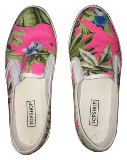 Topshop White, pink, green Flats