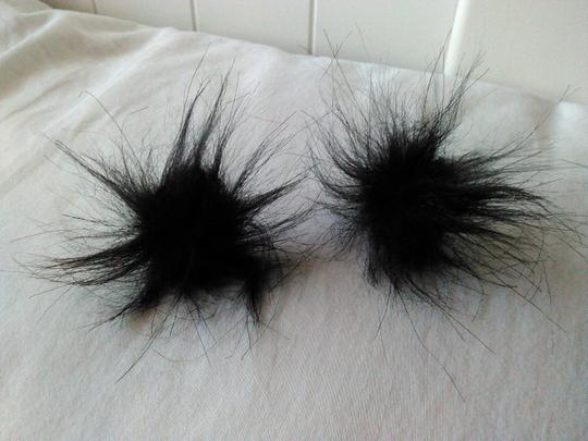 Black Faux Fur Cufflinks/Studs