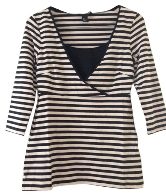 Preload https://img-static.tradesy.com/item/10502176/h-and-m-black-and-tan-stripe-mama-nursing-conscious-collection-maternity-tee-shirt-size-4-s-27-0-1-650-650.jpg