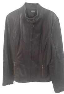 DKNY Leather Leather Leather Jacket