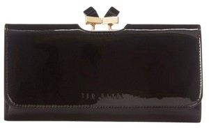 Ted Baker NEW TAGS! Ted Baker London Black Patent Leather Bow Wallet Purse Clutch NWT!