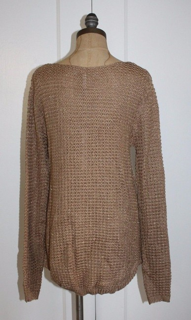 Anthropologie Gold Sparkle Blend Knit Sweater