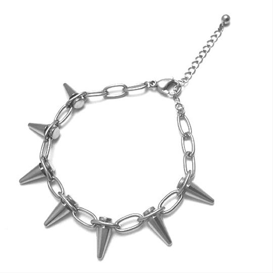 Other Geared Spikes Pyramid Bracelet