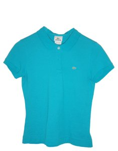 Lacoste Button Down Shirt bright blue