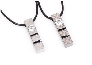 Grey Stainless Steel Bogo Free 2pc Matching Necklaces Free Shipping Jewelry Set
