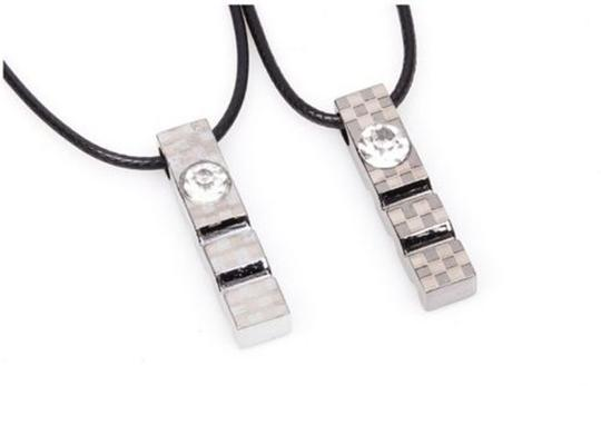 Preload https://item4.tradesy.com/images/grey-stainless-steel-bogo-free-2pc-matching-necklaces-free-shipping-jewelry-set-1050393-0-0.jpg?width=440&height=440