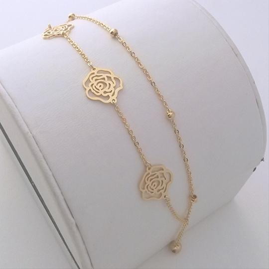 Other Romantic Stenciled Rose Cut Out Bracelet