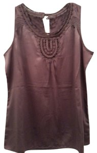 Banana Republic Lacey Neckline Satin Out Layering Top Soft Light Purple