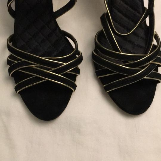 Tory Burch Stiletto Suede Strappy Black Formal Image 1