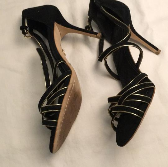 Tory Burch Stiletto Suede Strappy Black Formal Image 2