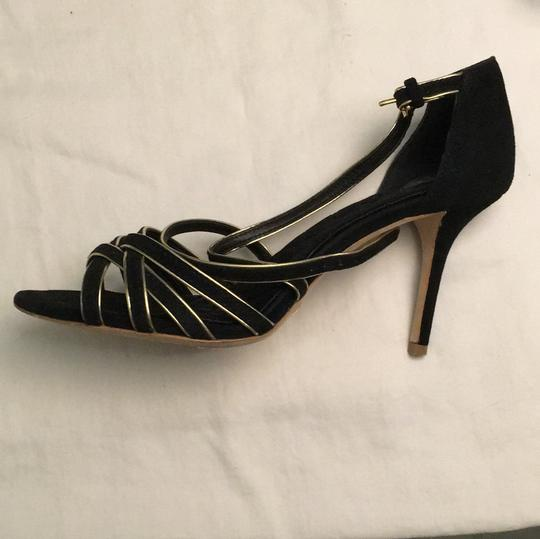 Tory Burch Stiletto Suede Strappy Black Formal Image 4