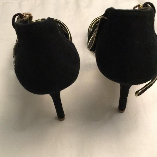 Tory Burch Stiletto Suede Strappy Black Formal Image 5