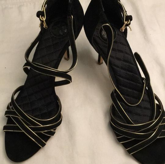 Tory Burch Stiletto Suede Strappy Black Formal Image 8