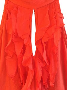 Arden B. Chiffon Top Red- Orange