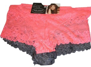 Kathy Ireland PANTIES 3X NWT 2PR LACE KATHY IRELAND 1 GRAY 1 PINK PLUS CHEEKY