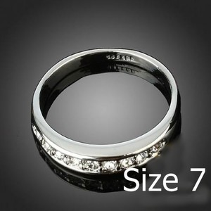 Classic White Topaz Wedding Band Free Shipping
