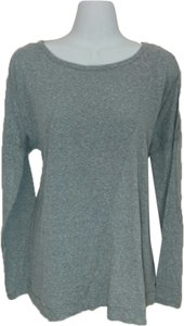 Rachel Roy Shirt Large Long Sleeve Top Gray