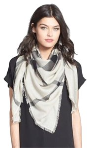 Burberry AUTHENTIC BURBERRY OVERDYED CHAMBRAY CHECKSQUARE SCARF