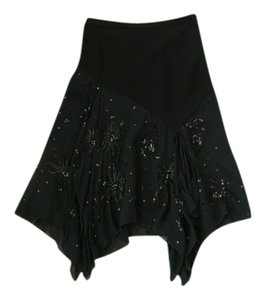 Banana Republic Beaded Assymetric Skirt Black