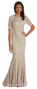Decode 1.8 Elegant Super Confortable Intricate Delicate Scalloped Lace Lined Sequined Lace Lace Mermaid Gown Dress