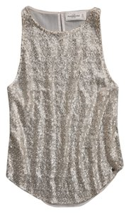 Abercrombie & Fitch A&f Anf Shine Glitter Tank Sparkle Shimmer Sequin Top Shimmer Gold