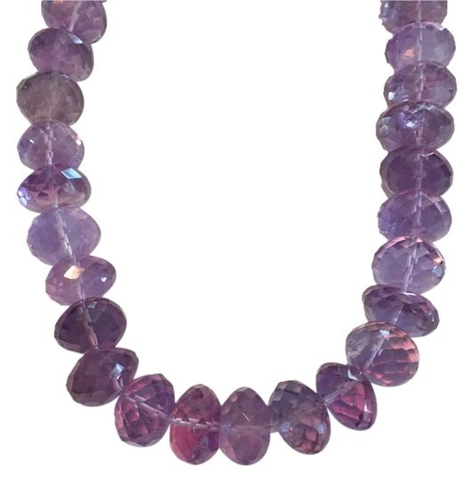 Preload https://item5.tradesy.com/images/silver-purple-sterling-amethyst-beaded-necklace-10505404-0-1.jpg?width=440&height=440
