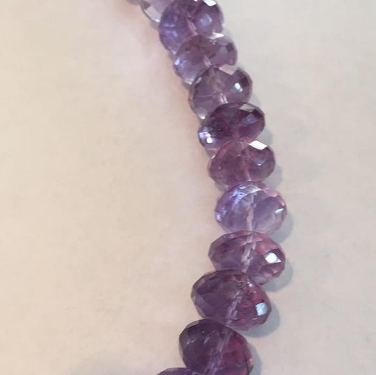 Other Sterling Silver Amethyst Beaded Necklace