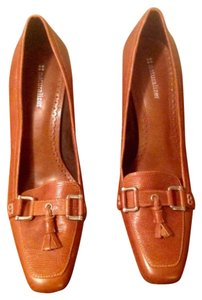 Naturalizer Tassle Silver Hardware Tan/brown Pumps