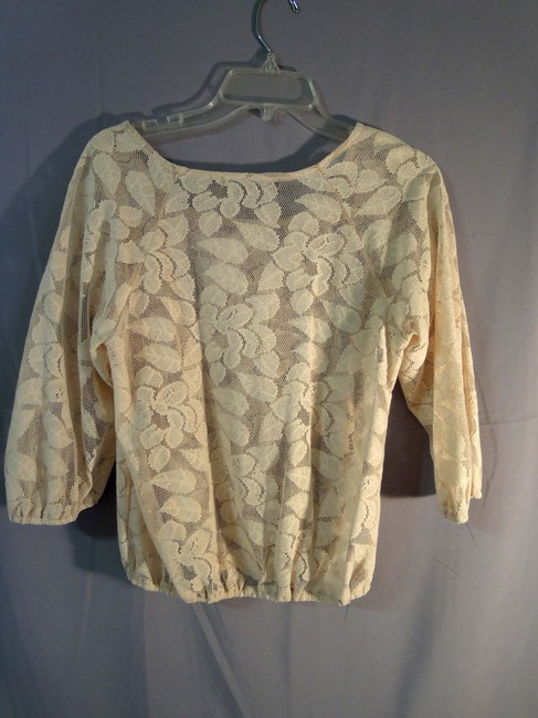 Janettes Girls Top ivory