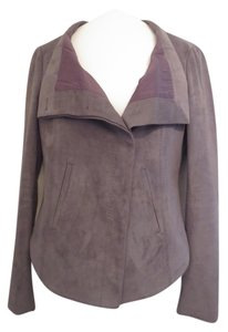 BCBGMAXAZRIA Max Azria Sleek Sexy gray Leather Jacket