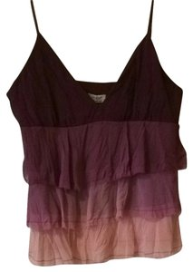 Guess Ombre Babydoll Top Royal Plum