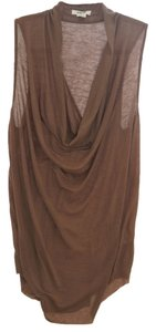 Helmut Lang Wine Draped Tunic