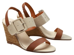 Coconuts by Matisse Nude Caine Buckle Sandal Tan Natural Wedges