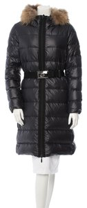 Moncler Puffer Black Fur Hood Coat