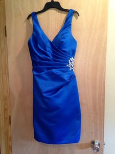 Mori Lee Royal Blue Bridesmaid/Mob Dress Size 4 (S)