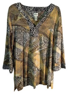 Chico's Top browm multi animal print