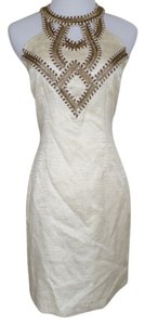 Esley Beaded Halter Mini Dress