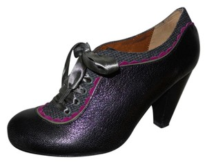 Poetic License Leather black, grey, pink & green Pumps