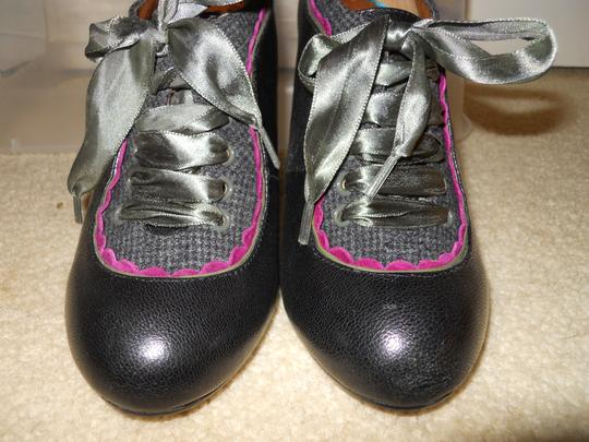 Poetic License Leather Booties black, grey, pink & green Pumps