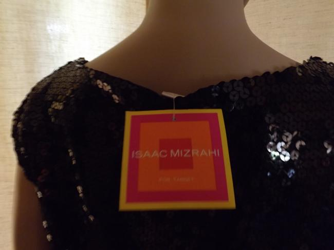 Isaac Mizrahi Sequins All Over Fully Lined Short Evening Style Pull On Scoop Neck Dress