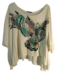 Truly Madly Deeply Cotton Owl Design Soft Top white and multi