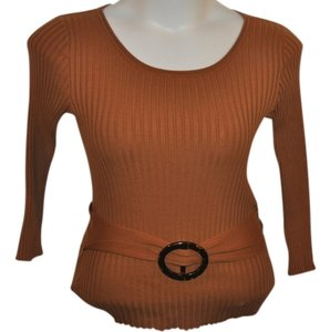 Tracy M / Orange Ribbed Sweater