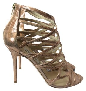 Jimmy Choo Rose Gold Sandals
