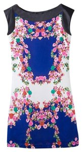 Pinky Girl short dress Blue Floral on Tradesy
