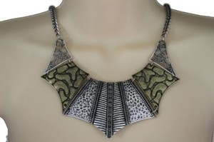 Preload https://item5.tradesy.com/images/women-antique-gold-silver-necklace-metal-chains-vintage-fashion-jewelry-earrings-10508689-0-0.jpg?width=440&height=440