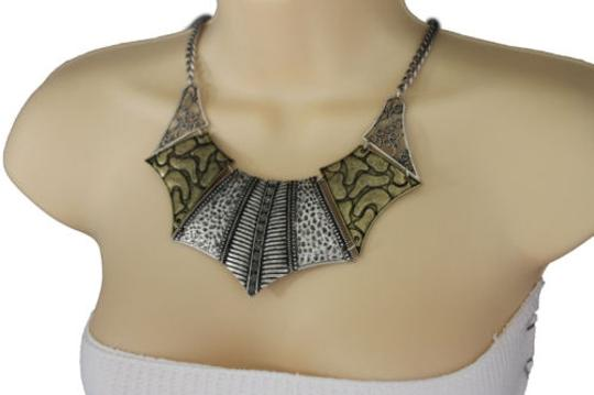 Other Women Antique Gold Silver Necklace Metal Chains Vintage Fashion Jewelry Earrings