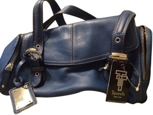 Tignanello Tote in SMALL Blue Leather
