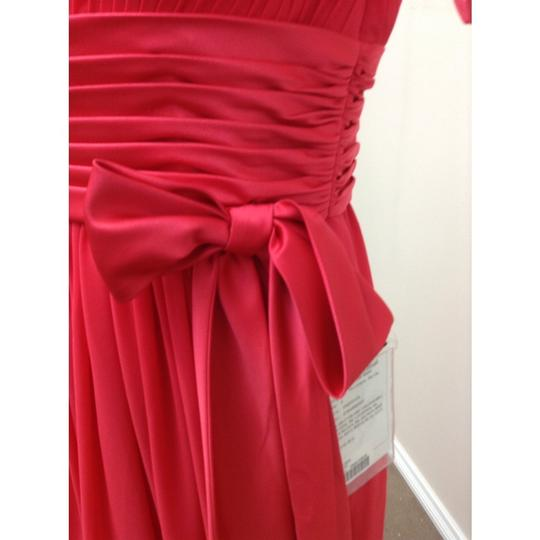 Pronovias Strawberry Crepe Fiesta Zelda New Formal Bridesmaid/Mob Dress Size 4 (S)