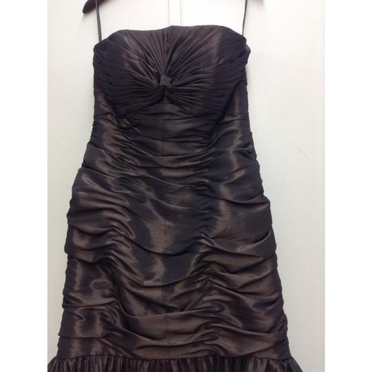 Pronovias Brown Taffeta 4117 It's My Party New Formal Bridesmaid/Mob Dress Size 12 (L)