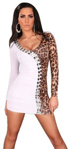 short dress White leopard New Sexy Mini on Tradesy